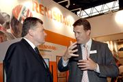 Ian Pearson visits Renishaw during MACH 2008