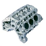 Metal part casting V6 engine block