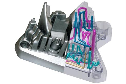Simulation of conformal cooling channels